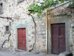 Tuscan mountain village door